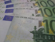 Euro money banknotes Stock Photos