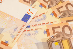 Euro money banknotes. 50 euro Stock Images