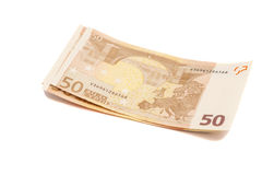 Euro money banknotes. 50 euro Stock Photography