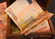 Euro money banknotes - 50 euro Royalty Free Stock Photos