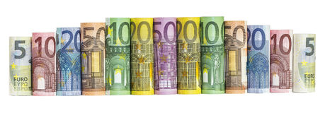 Euro Money Banknotes Royalty Free Stock Photo