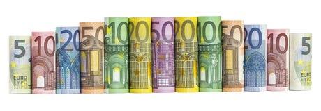 Euro Money Banknotes. Isolated on white background Royalty Free Stock Photo