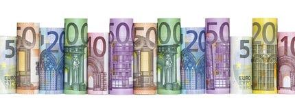 Euro Money Banknotes. Isolated on white background Stock Image