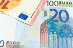 Euro Money. Banknotes. Shallow focus Royalty Free Stock Image