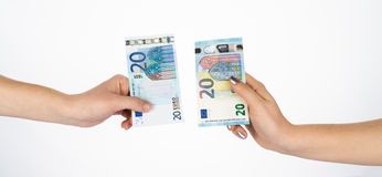 Euro money bills currency new cash Royalty Free Stock Images