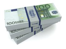 Euro money bills 3d illustration Royalty Free Stock Photo