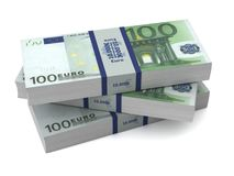 Euro money bills 3d illustration Stock Photography