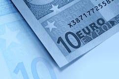 Euro money blue background Royalty Free Stock Photography