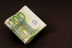Euro money bundle Stock Photos