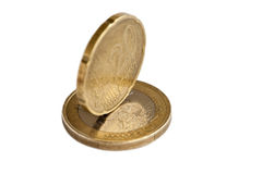 Euro money coin. An euro money coin on the white Stock Photography
