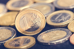 Free Euro Money. Coins Are On A Dark Background. Currency Of Europe. Balance Of Money. Royalty Free Stock Images - 73662359