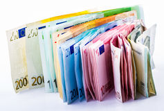 Euro money. Coins and papers royalty free stock photos