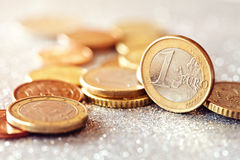 Euro Money. Euro coins .Selective focus stock photo