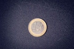 Euro money. Coins are  on a white background. Currency of Europe. Balance of money Royalty Free Stock Photos
