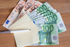 Euro money / the concept of the household budget. Euro money /  the household budget Stock Photography