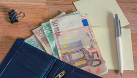 Euro money / the concept of the household budget. Euro money /  the household budget Stock Images