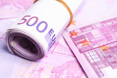 Euro Money in Detail Stock Image