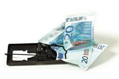 Euro money financial trap Stock Photography
