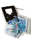 Euro money financial trap vertical Stock Image