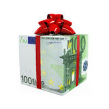 Euro Money Gift Box Stock Photos