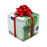 Euro Money Gift Box Royalty Free Stock Photography