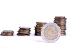 Euro money on graph background Stock Photography