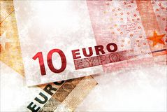 Euro money grunge background Stock Image