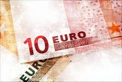 Euro money grunge background. Abstract grunge background with Euro money Stock Image