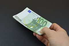 Euro money in hand Royalty Free Stock Photography