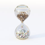 Euro Money In Hourglass (Conceptual Picture Of Business) Stock Photography