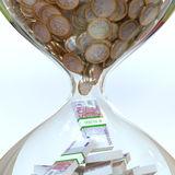 Euro Money In Hourglass (Picture Of Successful Business) Stock Photo