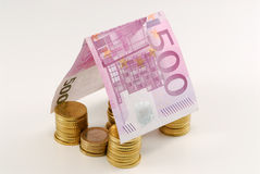 Euro money house Royalty Free Stock Photography