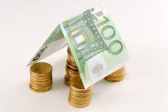 Euro money house Royalty Free Stock Images