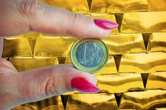 Euro money investment stock photography