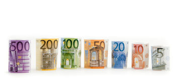 Euro money isolated Stock Images