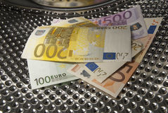 Euro Money Laundering Royalty Free Stock Photography