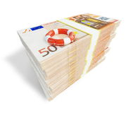 Euro money lifeline ladder Stock Images