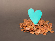 Euro money love Royalty Free Stock Photos