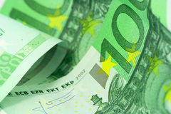 Euro money macro view Royalty Free Stock Images