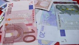Euro money notes. Different European Euro money notes Stock Photography