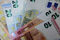 EURO MONEY NOTES Royalty Free Stock Photos