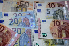EURO MONEY NOTES Stock Photos
