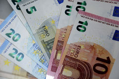EURO MONEY NOTES Stock Images