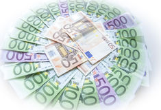 Euro money notes  European currency Royalty Free Stock Image