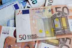 EURO MONEY NOTES Stock Image