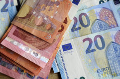 EURO MONEY NOTES Royalty Free Stock Images