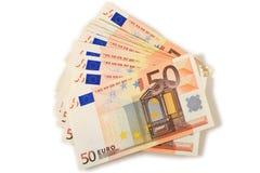 Euro money over white. Royalty Free Stock Image