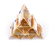 Euro money pyramid Stock Photography