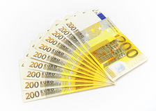 Euro money range. Stock Image