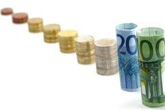 Euro money scale. On white background royalty free stock image